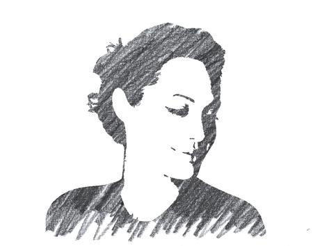 Pencil Illustration of Angelina Jolie 報道画像