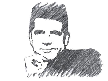 Pencil Illustration of Simon Cowell Editorial