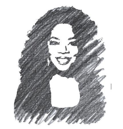Pencil Illustration of Oprah Winfrey