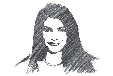 Pencil Illustration of Stephenie Meyer Editorial