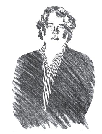 Pencil Illustration of George Lucas Editorial