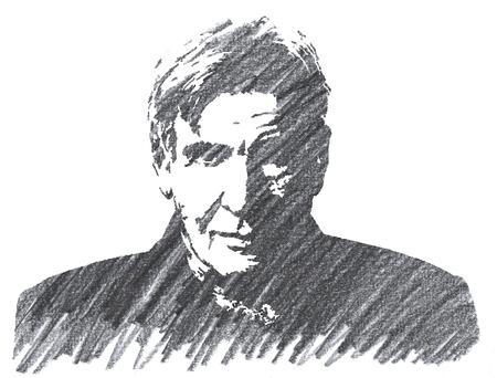 Pencil Illustration of Harrison Ford