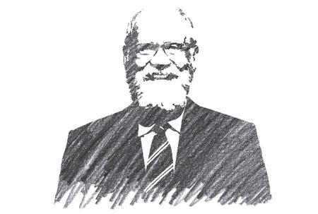 Pencil Illustration of David Letterman