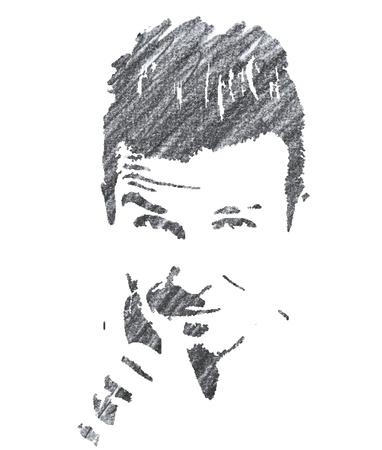 Pencil Illustration of David Beckham