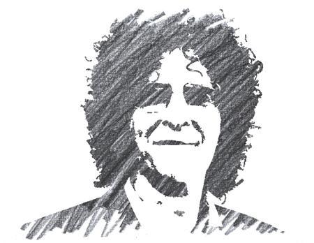Pencil Illustration of Howard Stern