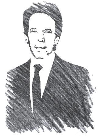 Pencil Illustration of Jerry Bruckheimer Editorial
