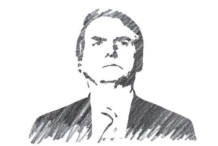 Pencil Illustration of Jair Bolsonaro