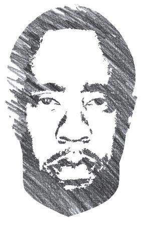 Pencil Illustration of Sean Combs
