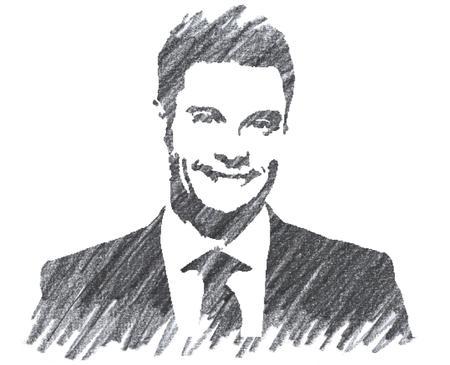 Pencil Illustration of Ryan Seacrest