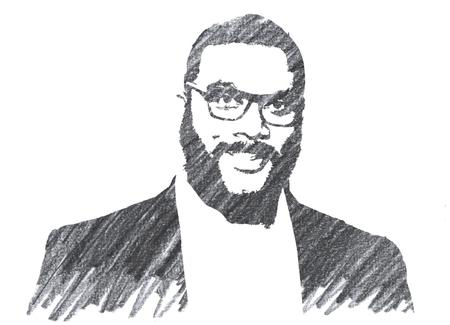 Pencil Illustration of Tyler Perry