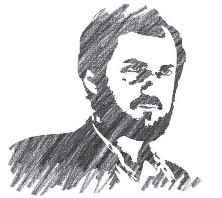 Pencil Illustration of Stanley Kubrick