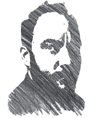 Pencil Illustration of Dave Matthews Editorial