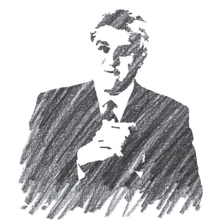 Pencil Illustration of Jey Leno