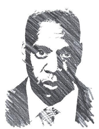 Jay z Editorial Pencil Drawing