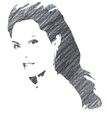 Angelina Jolie Editorial Pencil Drawing 報道画像