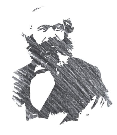 Karl Marx Editorial Pencil Drawing