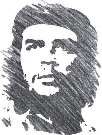 Editorial Pencil Drawing of Che Guevara