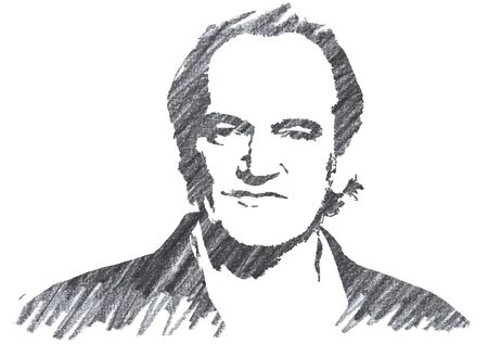 Editorial Pencil Drawing of Quentin Tarantino