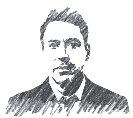 Editorial Pencil Drawing of Robert Downey Jr Sajtókép