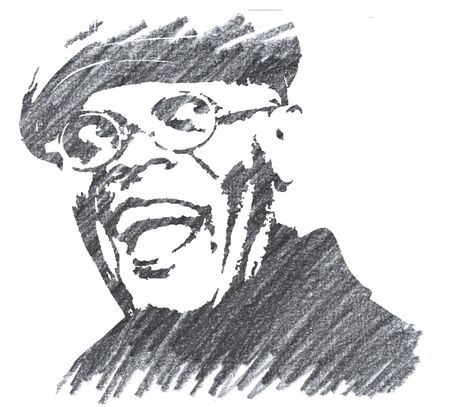 Editorial Pencil Drawing of Samuel L. Jackson Sajtókép