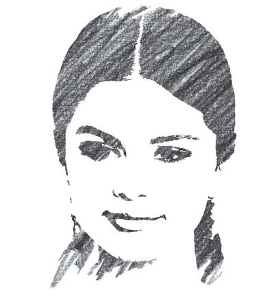Editorial Pencil Drawing of Selena Gomez