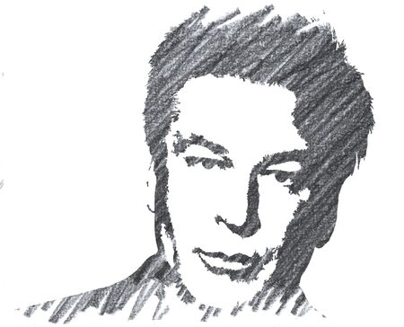 Editorial Pencil Drawing of Alec Baldwin