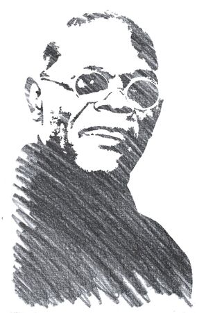 Editorial Pencil Drawing of Samuel L Jackson Sajtókép