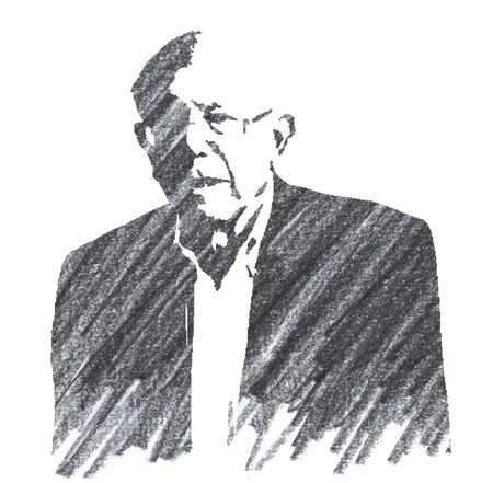 Editorial Pencil Drawing of Bernie Sanders Sajtókép