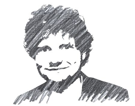 Editorial Pencil Drawing of Ed Sheeran