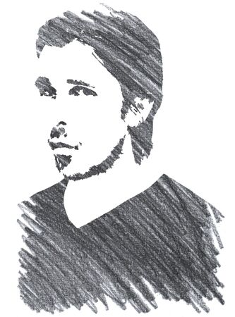 Editorial Pencil Drawing of Christian Bale