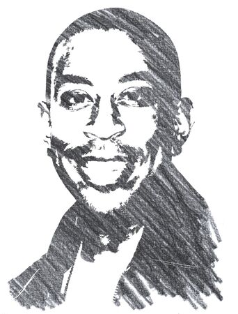 Editorial Pencil Drawing of Ludacris Sajtókép