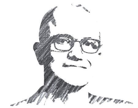 Editorial Pencil Drawing of Satya Nadella