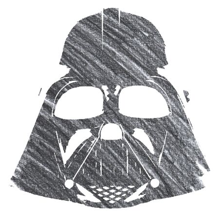 Editorial Pencil Drawing of Darth Vader Mask