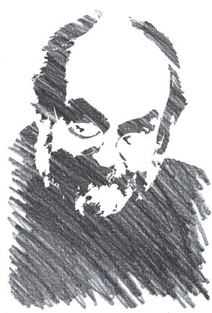 Editorial Pencil Drawing of  Stanley Kubrick Sajtókép