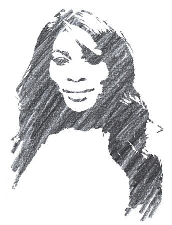 Editorial Pencil Drawing of Serena Williams Sajtókép