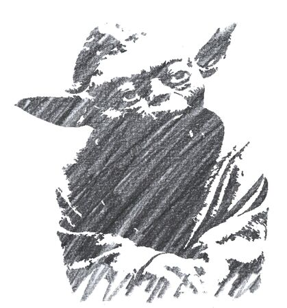 Editorial Pencil Drawing of Yoda Sajtókép