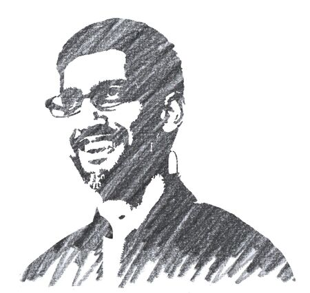 Editorial Pencil Drawing of Sundar Pichai Sajtókép