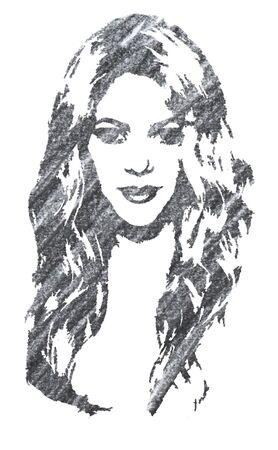 Editorial Pencil Drawing of Shakira