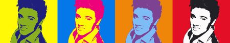 Editorial Illustration of Elvis Presley Pop Art Sajtókép