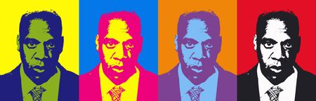 Editorial Illustration of Jay Z Pop Art