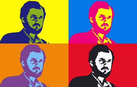 Editorial Illustration of  Stanley Kubrick Pop Art