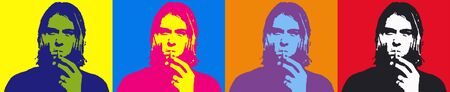 Editorial Illustration of Kurt Cobain Pop Art