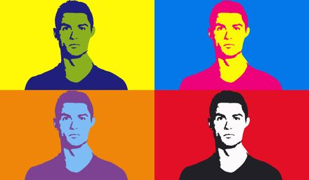 Editorial Illustration of Cristiano Ronaldo Pop Art