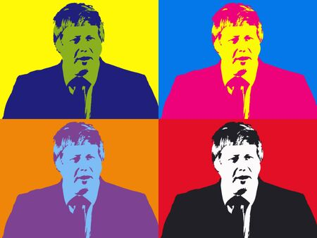 Editorial Illustration of Boris Johnson Pop Art