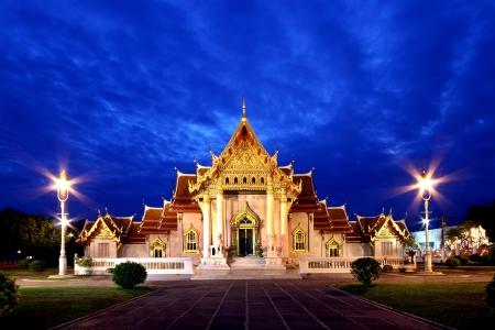 The Beautiful Marble Temple (Wat Benchamabophit ) Bangkok, Thailand photo
