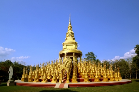 Stupa in Wat Pasawangboon, Saraburi, Thailand photo