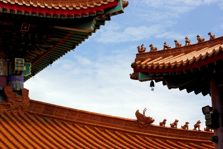 Gable roof in chinese style photo