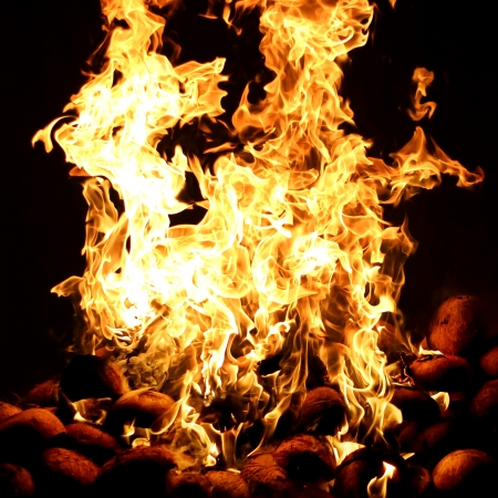 Fire flame texture or background