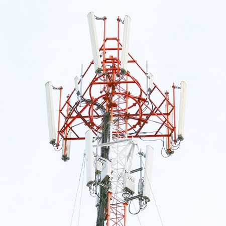 Closeup of a telecommunication tower photo