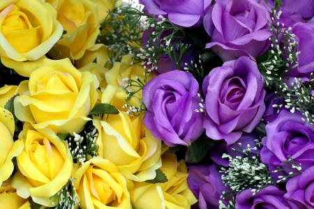 Colorful of rose artificial flower photo